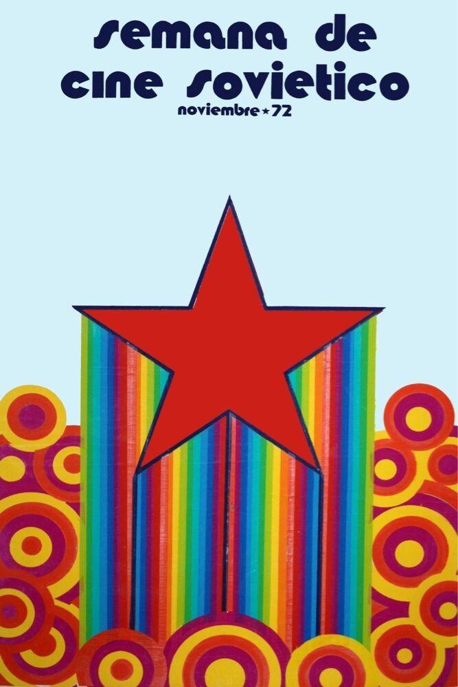 9287.Semana de cine sovietico.rot star rising.POSTER cor Home Office art