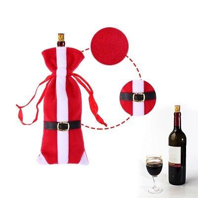 Vin Rouge Cache Bouteille Couverture Chapeau Sacs Décoration Noël Fête Cadeau