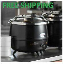 14 Qt Black Electric Countertop Food Soup Kettle Warmer Resto Kitchen 110 Volts