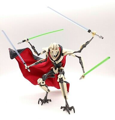 no figure Gray /& Red Cape for Star Wars Black Series General Grievous