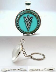 The Lord of the Rings - Elf Symbol Arwen Evenstar - Photo Glass Dome Keyring