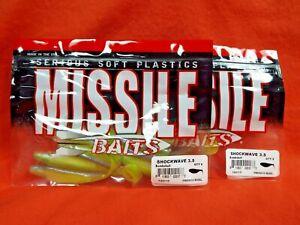 MISSILE BAITS SHOCKWAVE 3.5 MBSW35-BMSL BOMBSHELL 2PK/'S 8PK