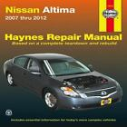 Haynes Repair Manual: Nissan Altima Automotive Repair Manual : 2007-2012 by Max Haynes (2013, Paperback)