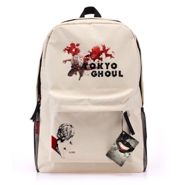 Tokyo ghouls Kaneki Ken Large size Canvas backpack Cosplay School bag