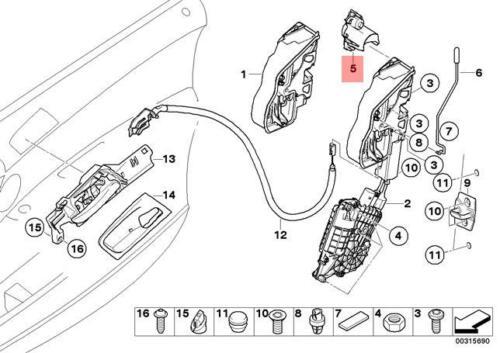 Genuine BMW E71 E72 F25 F26 Adapter Door Locking System Left OEM 51217184907
