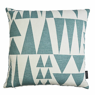 SPIRA Vtg/Retro Geometric Scandinavian Swedish Fabric cushion cover - JAZZ BLUE