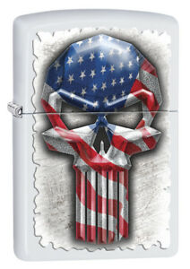 38efccbe78a0 Image is loading Zippo-Custom-Lighter-Long-Skull-American-Flag-Regular-