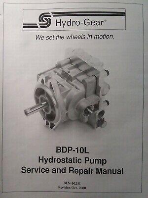 Hydro Gear BDP-10L  Hydrostatic Pump Repair Manual