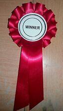Red winner Rosette Dog Show Horse Pet Child