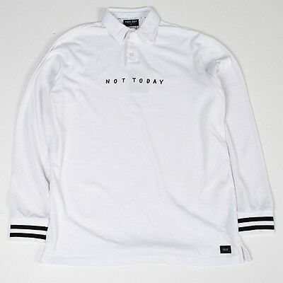 $ 59.99 Lazy Oaf Uomo Not Today Manica Lunga In Jersey Maglietta (bianco)