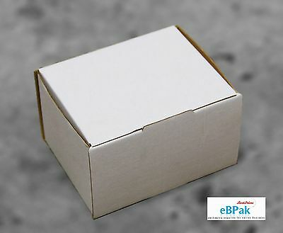 50x Mailing Box 125x100x75mm Die-Cut * Light Strong Ideal for Small Accessories