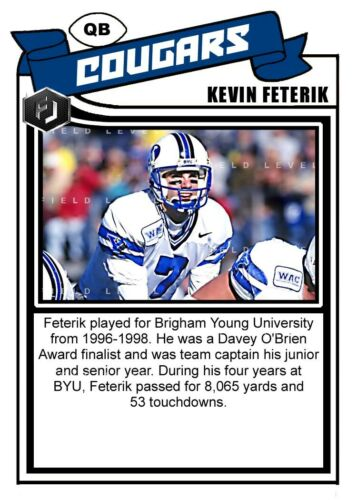 ACEO KEVIN FETERIK BYU COUGARS CUSTOM HAND MADE ART CARD