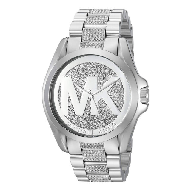 Michael Kors Bradshaw Damen Armbanduhr Mk6486│kristall besetzt MK Logo