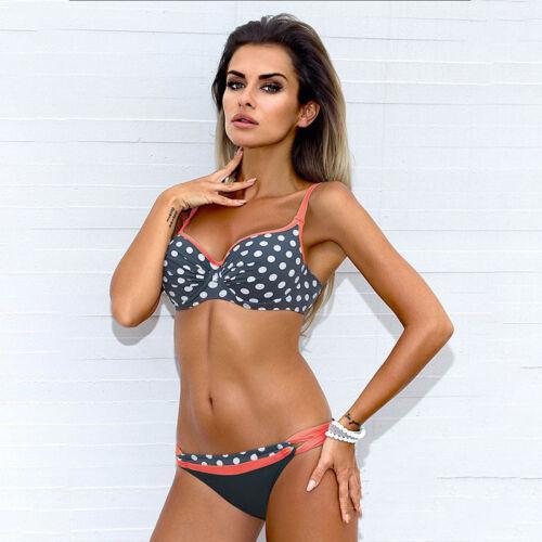 Women Bikini Set Padded Bra Push Up Swim Bandeau Swimsuit Swimwear Bathing Suit