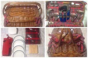 Picnic-Time-Highlander-Willow-Picnic-Basket-for-Four
