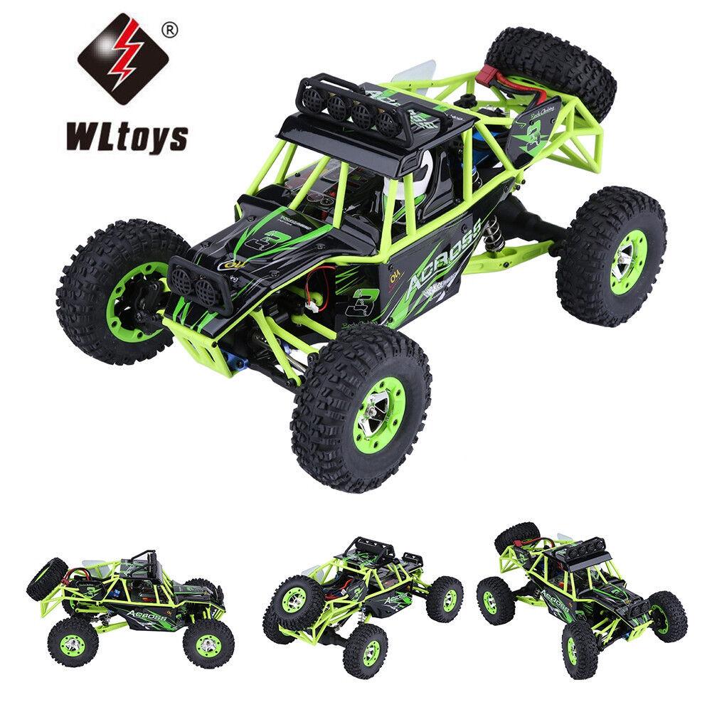WLtoys 12428 2.4GHz escala 1 12 de alta velocidad 50km h 4WD Coche Eléctrico Rc Coche Crawler