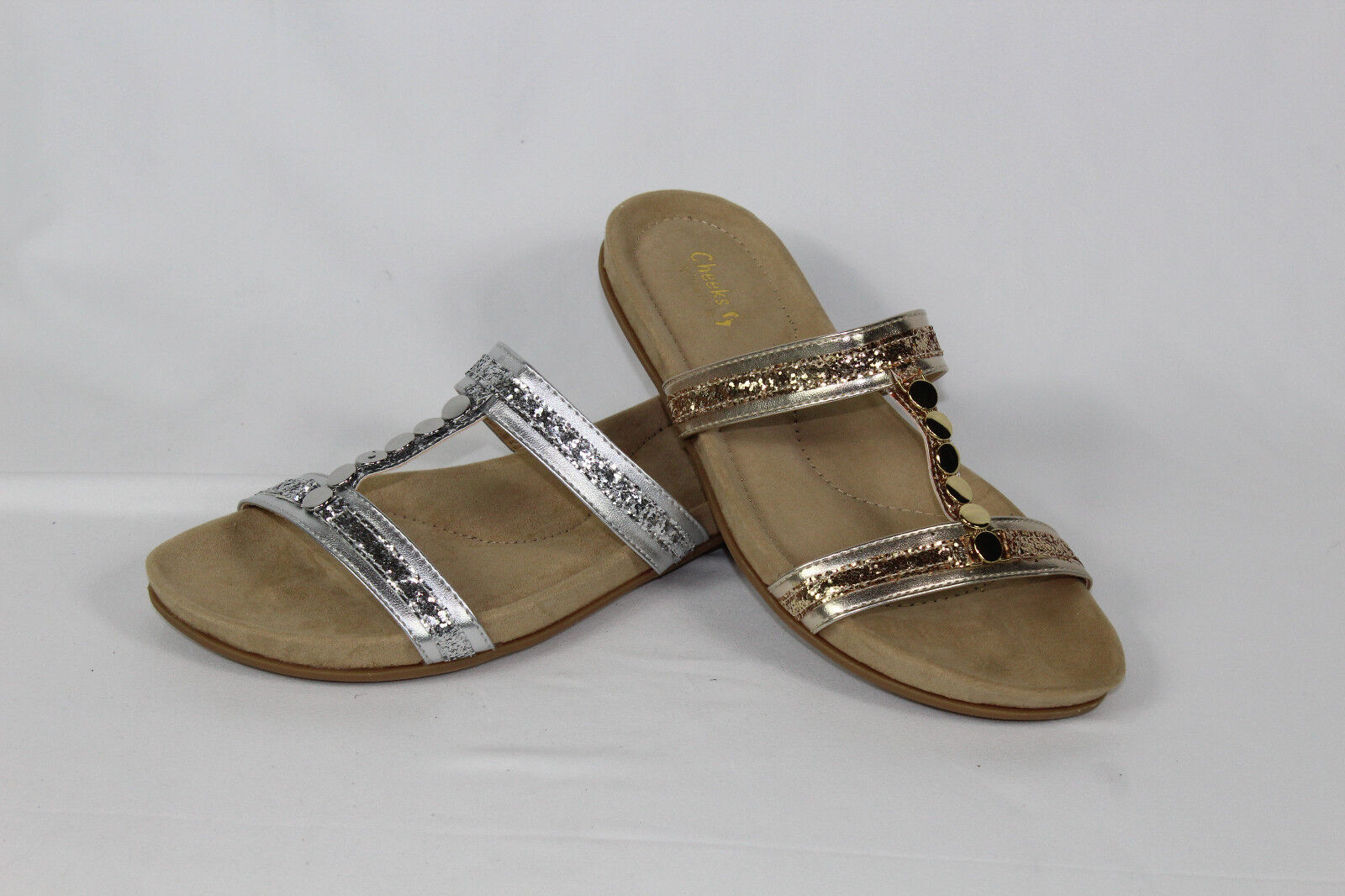 CHEEKS PURE COMFORT SANDAL GLITTER SHOES PICK SIZE & COLOR COLOR & NW 98939e