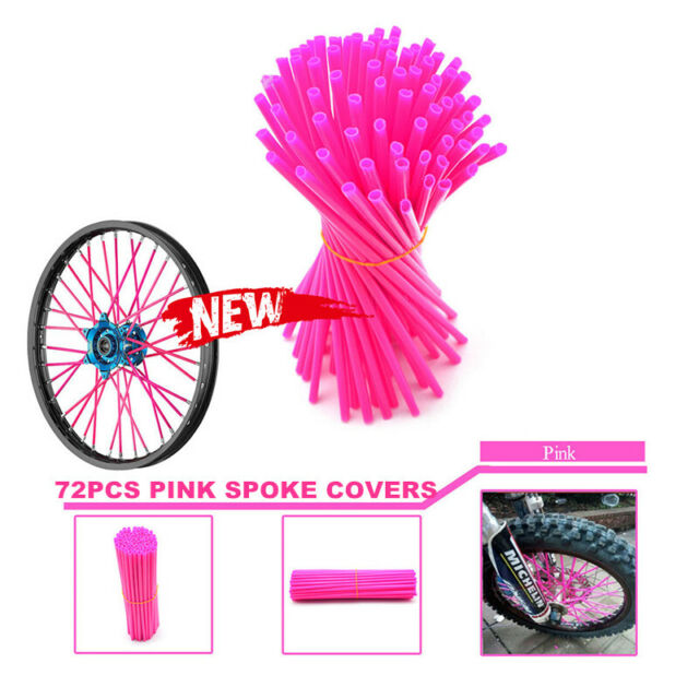 PINK SPOKE WRAPS, SPOKE COATS, SPOKE COVERS, KTM,CRF,YZF,HUSQVARNA,RMZ,KXF