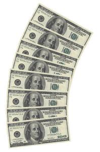 100-DOLLAR-USA-AMERICAN-MONEY-PAPER-NAPKINS-X10