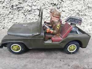 Jeep Willys Nomura anti aircraft World War II giocattoli latta