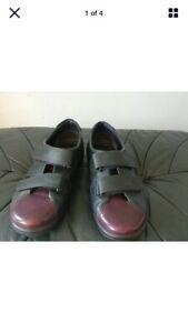 Ecco-Womens-EU-Size-38-Uk-5-Burgundy-amp-Green-Leather-Shoes