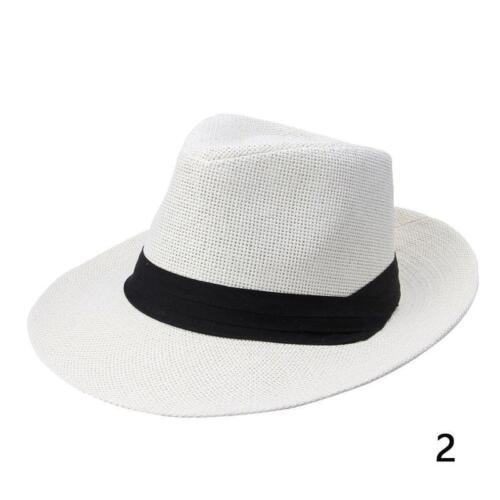 Jazz Beach Hat Sun Panama  Cap Men Women Unisex Paper Straw Trilby Fedora