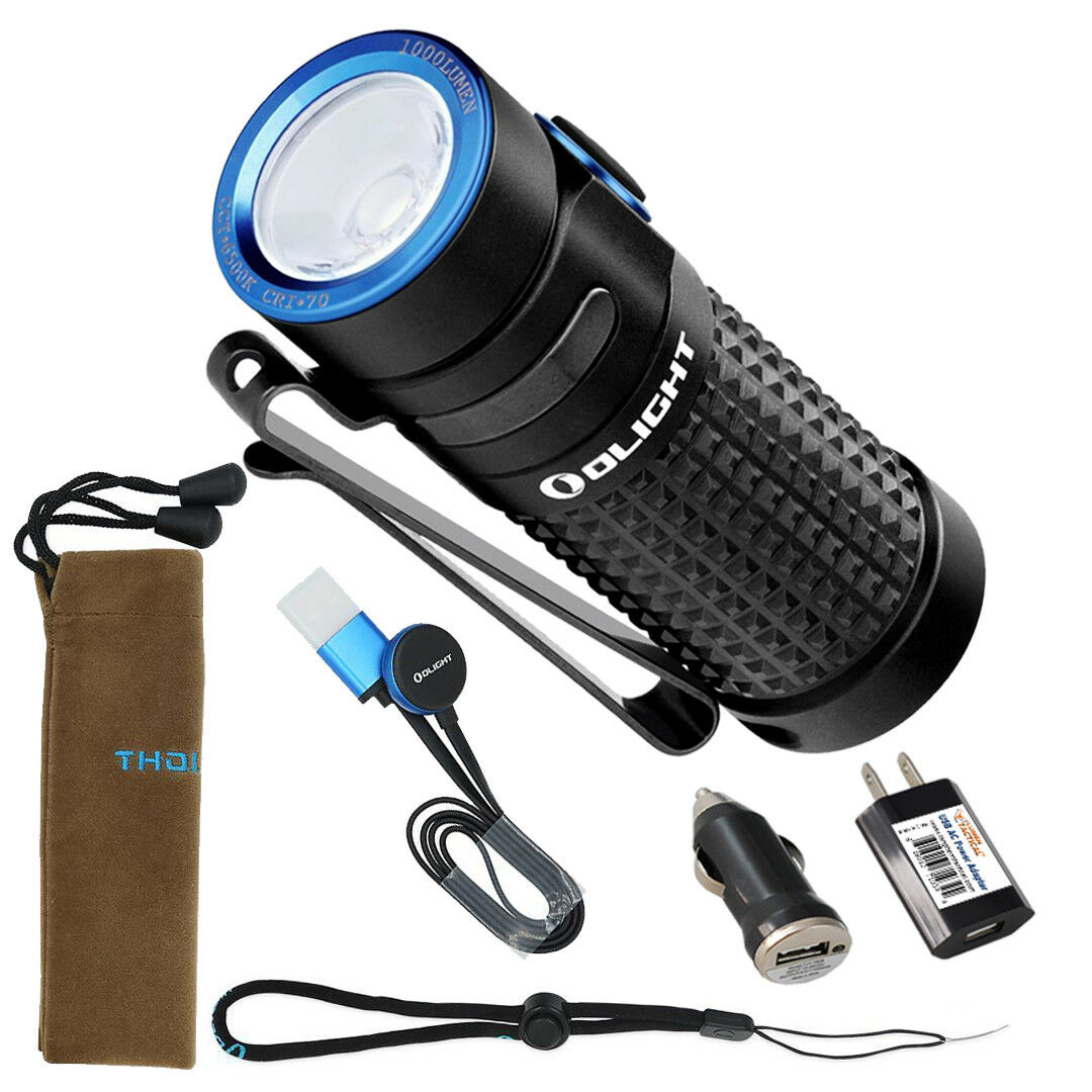 Olight S1R Baton II 1000 Lm Rechargeable  EDC Flashlight with AC & Car Adapters  best reputation
