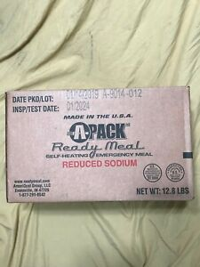 NEW APack Ready Meals Case of 12 MRE's Emergency Food Rations INSP DATE 2024 MRE