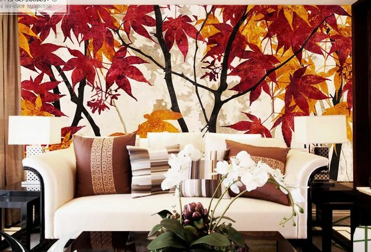 3D ROT leaves art 1564 Paper Wall Print Decal Wall Wall Murals AJ WALLPAPER GB