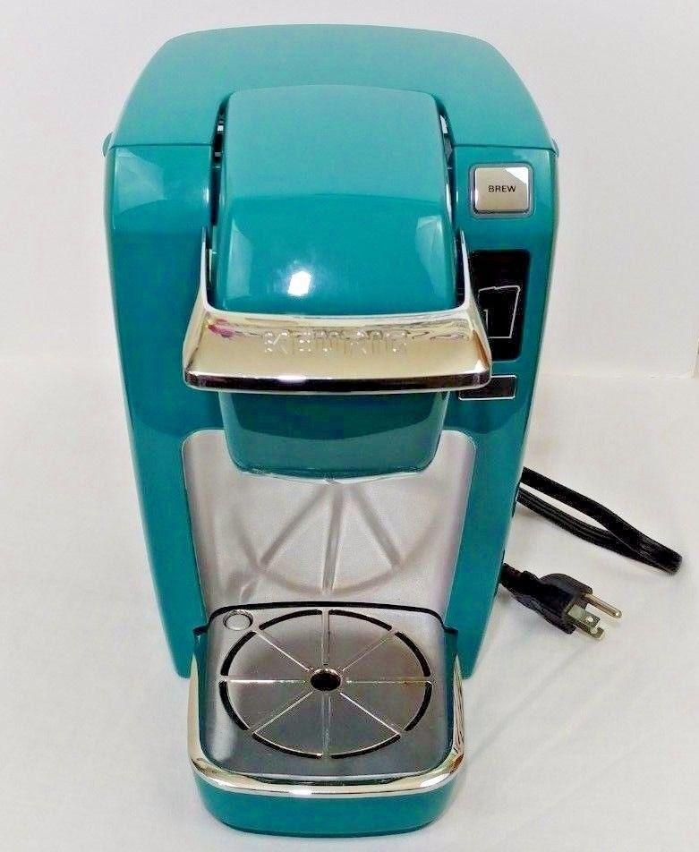 RARE Keurig K10 Mini plus Brewing System Tourquoise-RARE Couleur Original Box