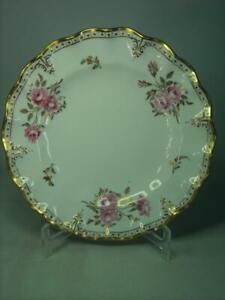"1964 Royal Crown Derby Pinxton Roses FLUTED DESSERT / SALAD plate 8.5"" Diameter"