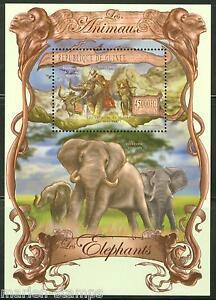 Guinee-2013-les-animaux-elephant-SOUVENIR-SHEET-Comme-neuf-NH