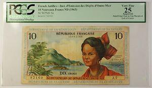 1963-ND-French-Antilles-10-Nouveaux-Francs-Note-SCWPM-5a-PCGS-VF-25-Apparent