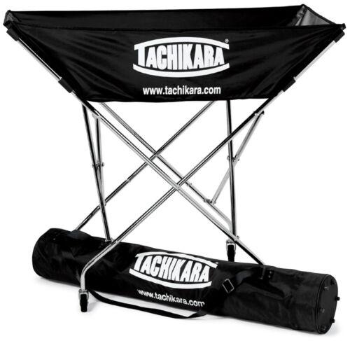 Black Tachikara Hammock Volleyball Cart with Nylon Carry Bag
