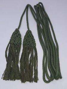 Vintage-Cincture-con-Ornate-Borlas-para-Vestment-180-034-Largo-Antiguo-Verde-24-4ms