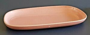 """American Modern Coral Russel Wright Steubenville Oval Serving Platter 13 1/2"""""""