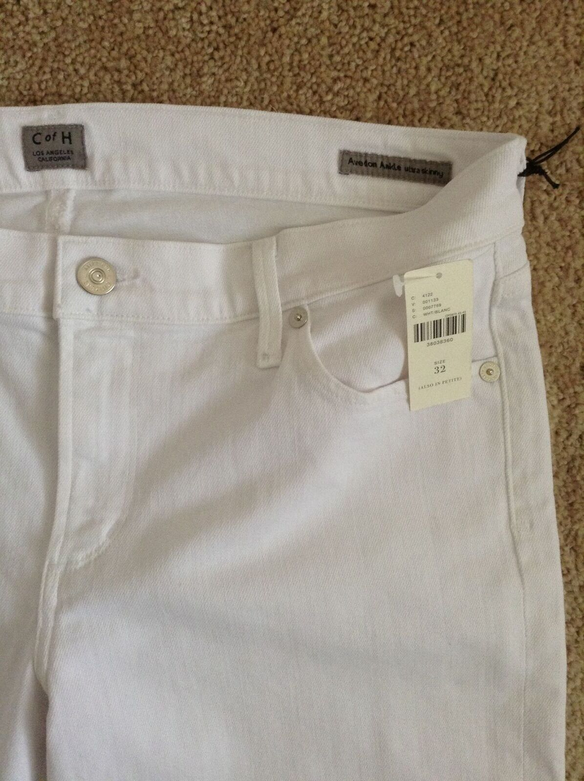 NWT Citizens of Humanity 'Avedon' Ankle Ultra Skinny JeansOptic White32 waist