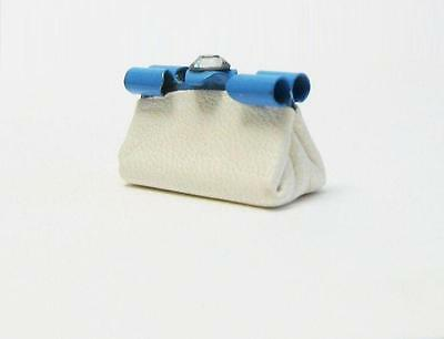 Adaptable Miniature Leather Purse Brenda's Minis Wh-blue Dollhouse Pocketbook 1:12 Gemjane