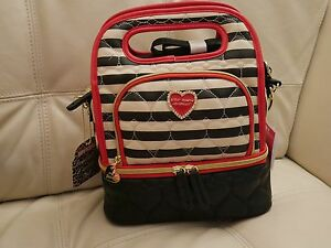 New Betsey Johnson Top Handle Lunch Tote Insulated Bag