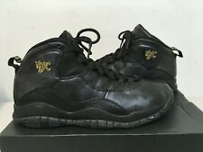 Nike Air Jordan X 10 Retro BG Black//Grey-Metallic Gold NYC 310806-012 GS SZ 4Y