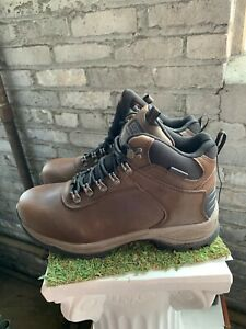 NEW-Khombu-Men-039-s-Boots-Ravine-Brown-Leather-All-Weather-Terrain-Pick-Size