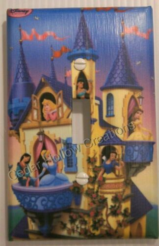 Disney Princesses in Blue Castle Light Switch Cover /'New!/' LARGER SIZE