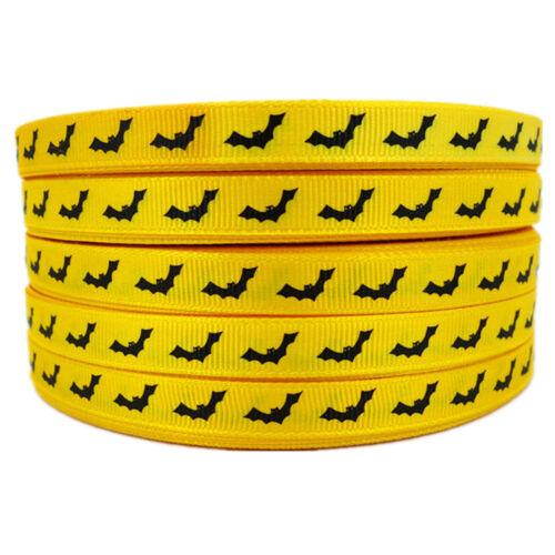 Ripsband Halloween Fledermaus 10mm