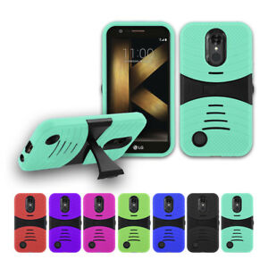 premium selection 5a47c 59e8b Details about For LG K20 Plus/ LG K20 Rugged Armor Hybrid stand Cover Soft  Hard Case