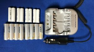 Car-12v-1-Smart-Charger-16-of-8-AA-amp-8-AAA-Rechargeable-batteries-Stock-Sale