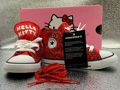 Converse Unisex Kids CTAS Hi Hello Kitty Shoes Limited Edition Red - Choose Size   eBay