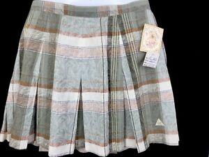 b70d5cc1e5c2 LE COQ SPORTIF Ladies Muted Plaid Pleated Tennis Skirt Sz 12 Linen ...