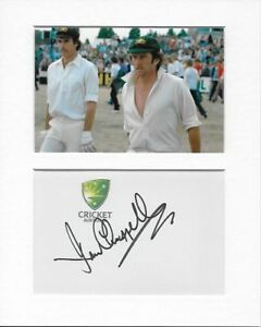 Cricket Australia Ian Chappell Genuine Authentic Hand Signed Autograph AFTAL COA