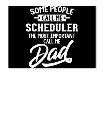Details about  /Gift For Scheduler Dad Fathers Day Present Sticker Landscape