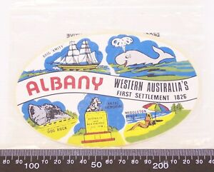 VINTAGE-ALBANY-WESTERN-AUSTRALIA-SOUVENIR-PROMOTIONAL-VINYL-STICKER